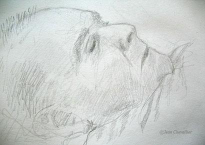 Mon père, dormant. Juillet 2015.
