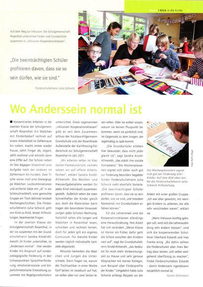 "Artikel ""Blick in die Kirche"" 6/2013"