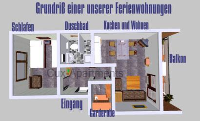 Die Wohnungen haben eine Größe von ca. 40 - 45 m²