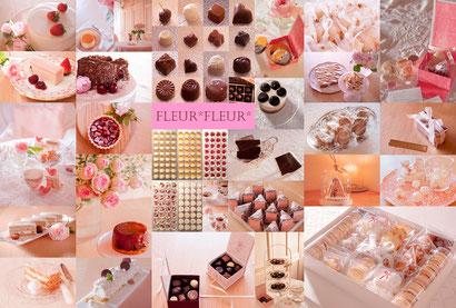 sweets collage, Fleur*Fleur*