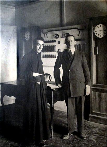 Marconi con Padre Alfani all' Osservatorio Ximeniano di Firenze