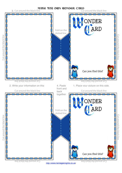 Wonder card templates