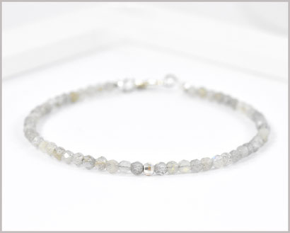 Labradorit Edelstein Armband  925 Silber  34,90 €