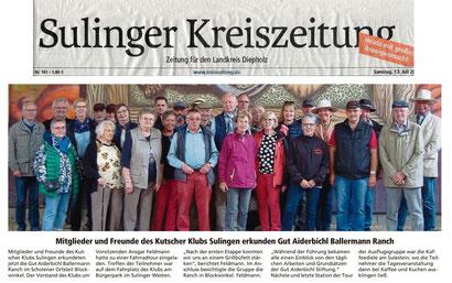 """SULINGER KREISZEITUNG: Kutscher aus Sulingen bei den """"Ballermanns"""""""