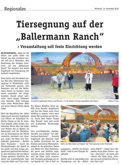 Die wochenpost zu Gast bei Annette u. Andre Engelhardt auf der BALLERMANN RANCH
