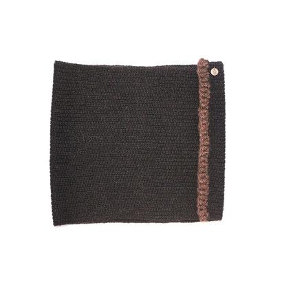 Cache-Cou en marron trim-épaisse. Disponible en plusieurs coloris, trim fine en couleurs ou épaisse. Existe en version Merinos/Angora!