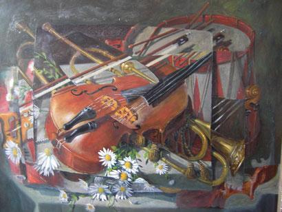 Öl, Lw. 80 x 100 cm. 1997.