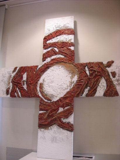 Cruz cósmica.193x193cm Relieve escultórico. 2010. Josep Cárceles.