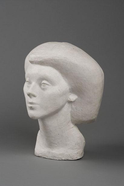 Alberto Giacometti.Cabeza de Isabel 1936.Terracota.Hirshhorn Museum Sculpture Graden,Washington. Giacometti le dijo a Isabel que era ella quien le había inspirado las minúsculas figurillas realizadas antes de la guerra.