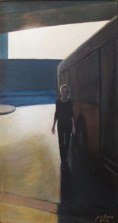philipp christoph haas | [ohne titel] aus der serie 'figur im raum', akryl auf leinwand, 30x43cm, 2012