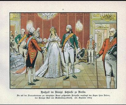 1793年のルイーゼの結婚(パウル・キッテル1896年)