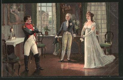 ティルジットでの王妃ルイーゼとナポレオン