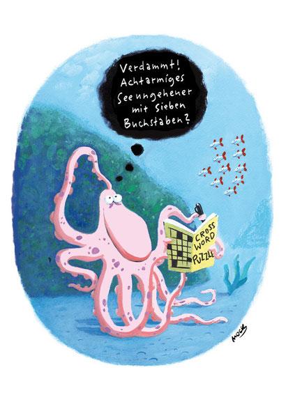Cartoon von Mock zum Thema Kreuzwortraetsel