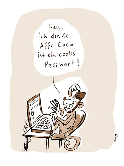 Cartoon von Mock zum Thema Password