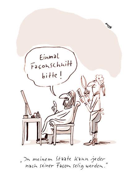 Cartoon von Mock zum Thema Geschichte