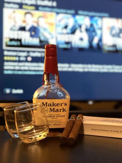 Männerquatsch Podcast [Sonderfolge #06] Serien Piloten Nr.1 - Boston Legal, dazu einen schönen Maker's Mark Whisky und eine Zigarre
