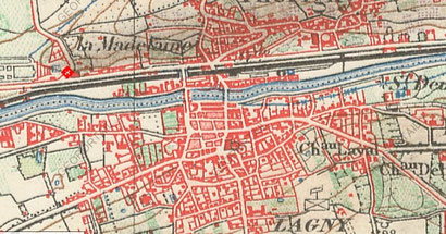 Carte topographique de 1900