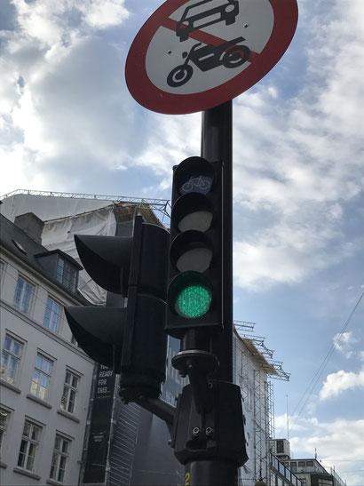 チャリ専用の信号