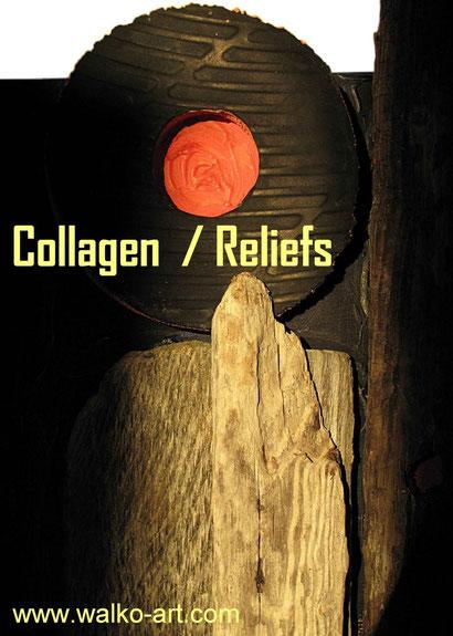 Auswahl von Collagen + Reliefs, Jens Walko Kunst, walko-art Waldenbuch