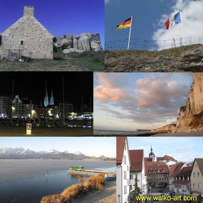 Bretagne,Verdun,Oostende,Normandie,Allgäu und Waldenbuch.Orte und Themen, Jens Walko Kunst, walko-art