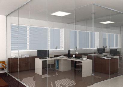 Nuevos separadores para oficinas de vidrio