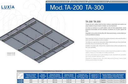 Revestimientos de techos de 200 y 300 mm