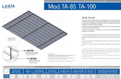 Revestimiento techos aluminio