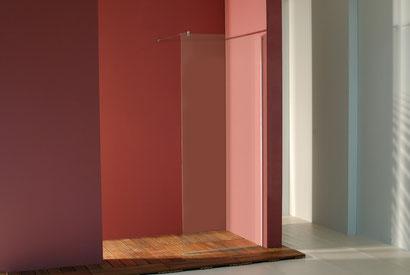 Mampara frontal de ducha Dina con vidrio transparente