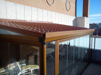 Techos imitacion teja aluminios no in gar s for Tejado de madera o hormigon
