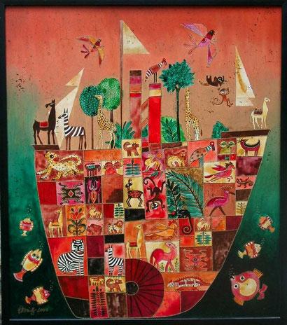 Arche Noah 2  Öl auf Holz 70 x 80 cm