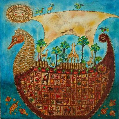 Arche Noah 1 Öl auf Leinwand 80 x 80 cm