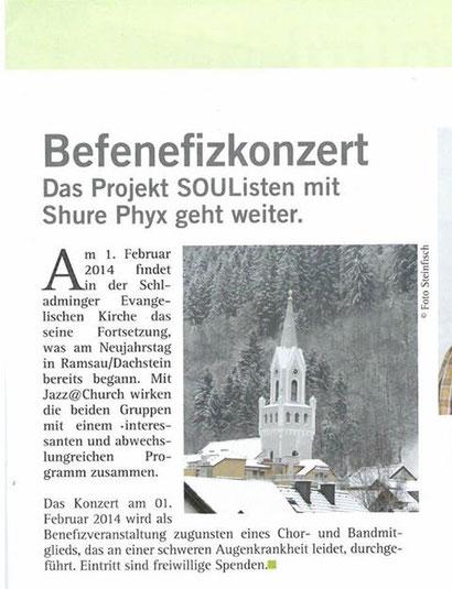 Artikel vom 22.01.2014 - Schladminger Post