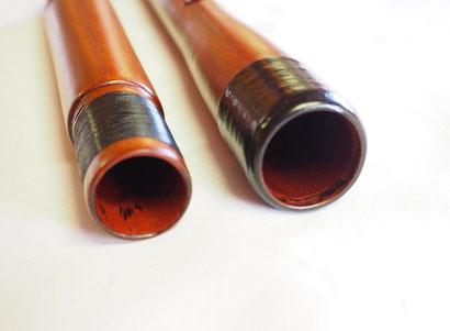 オリジナル横笛(木製)継ぎ管LowD管継ぎ手