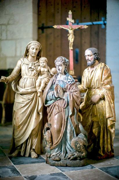 Ensemble de statues baroques du XXIe au XIXe siècle.
