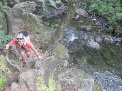 kein einfacher Weg zum Wasserfall