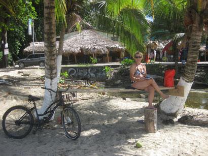 am Strand von Puerto Viejo