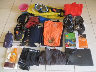 Gerhard`s Reisegepäck für 7 Wochen