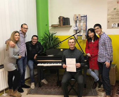 Remise du piano à l'école La Vraie Note, dimanche 10 décembre 2017