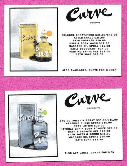 CURVE - LIZ CLAIRBONE : LOT DE 2 CARTES DIFFERENTES
