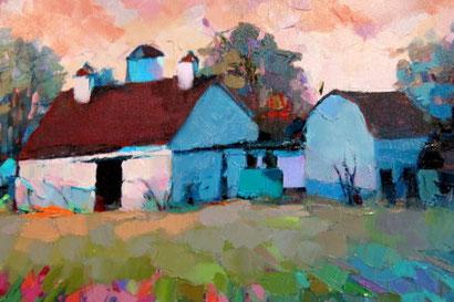 "Ölgemälde ""Cole Farm"" von Trisha Adams"