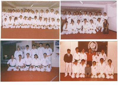 Foto Ricordo di Shiha Francesco Cuzzocrea al Dojo di shihan Sadanobu Tatsuto anni 1976/1977