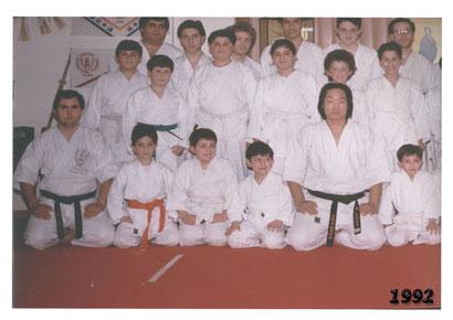 Foto di gruppo con Sensei Sadanobu Tatsuto