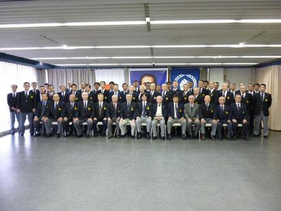 Foto di gruppo dei Shihan  e Hanshi  all'Hombu Dojo Seigokan  Imeji Giappone