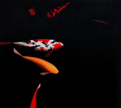 Koiteich 1, 90 x 100 cm, Öl auf Leinwand, 2009