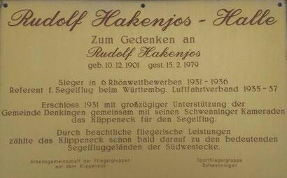 Rudolf Hakenjos Gendenktafel