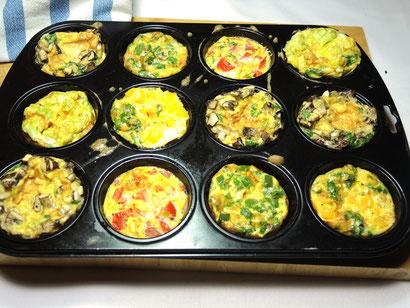 Nachher: Frische Muffins aus dem Ofen