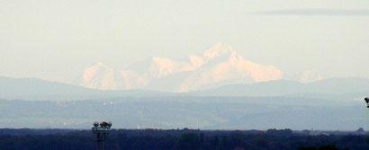 Le Mont Blanc vu de Chenôve