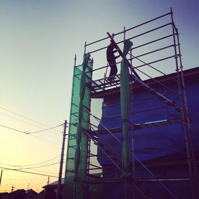 福山市の注文住宅はNacca Designへ!上棟風景#6