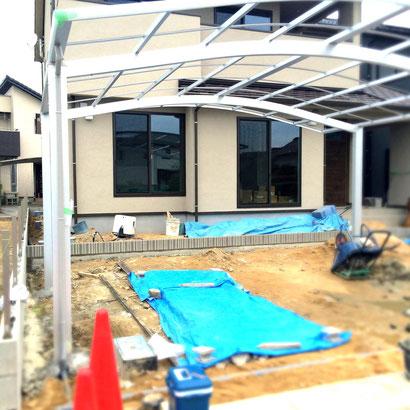 福山市の注文住宅はNacca Designへ!外構工事風景#2