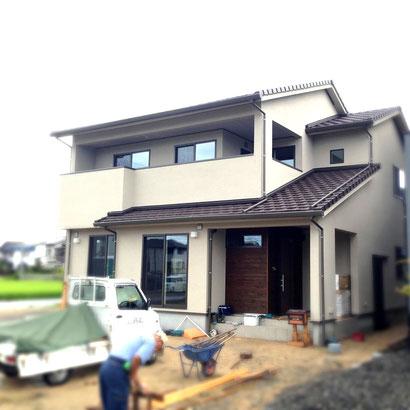 福山市の注文住宅はNacca Designへ!外壁工事風景#2